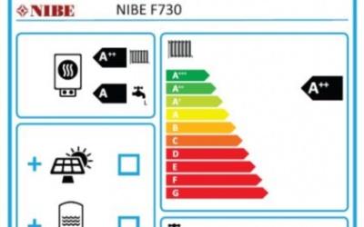 Etiquette Energétique PAC NIBE F730