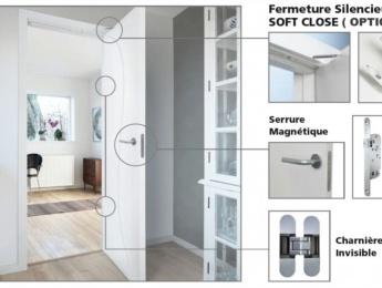 Charnière Invisile / Serrure Magnétique